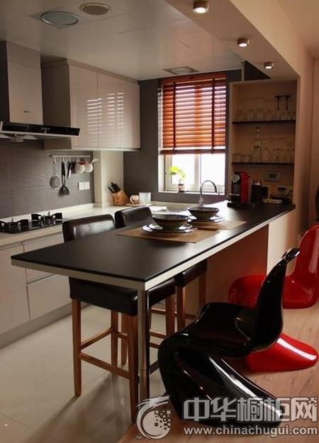 我乐厨房吧台设计 岛型厨房装修效果图