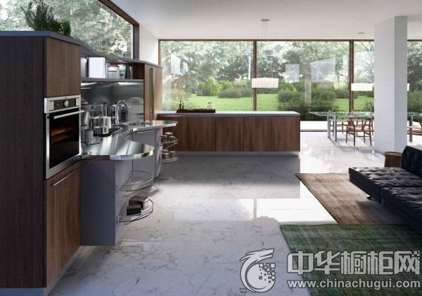 家庭厨房装修效果图 橱柜设计效果图