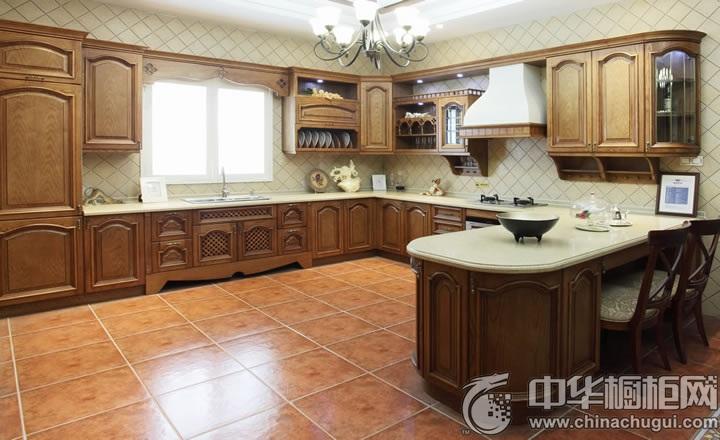 古典风格厨房装修效果图 U型厨房装修效果图