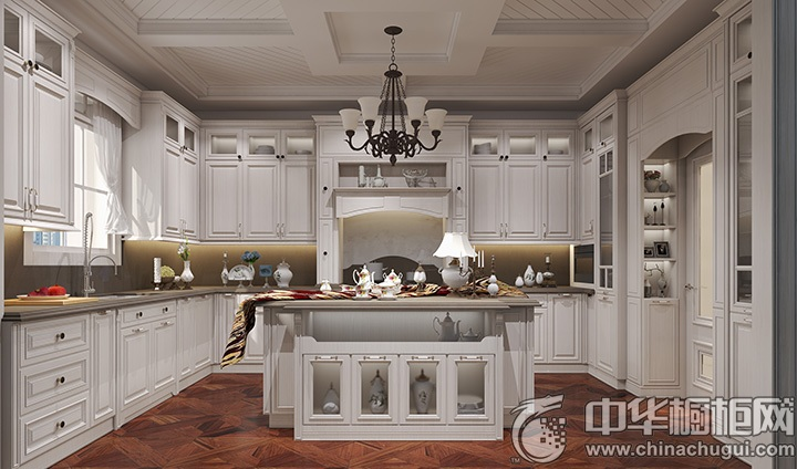 厨房吧台装修效果图 岛型橱柜效果图