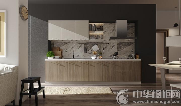 厨房设计效果图 一字型厨房装修效果图
