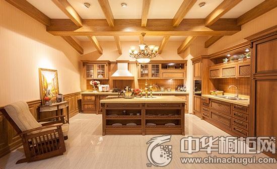 田园古朴家装设计 岛型橱柜营造唯美厨房