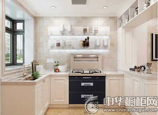 欧式厨房装修效果图 L型厨房装修效果图