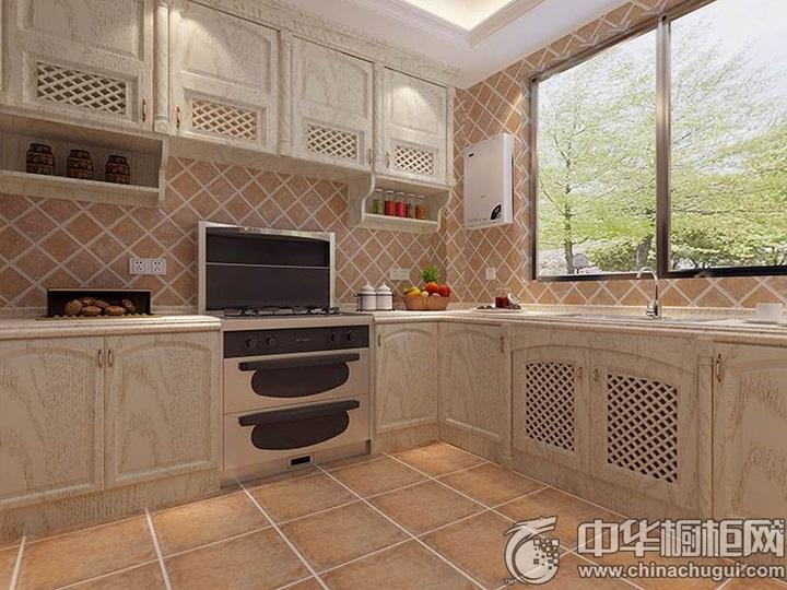 田园风格厨房装修效果图 整体橱柜效果图
