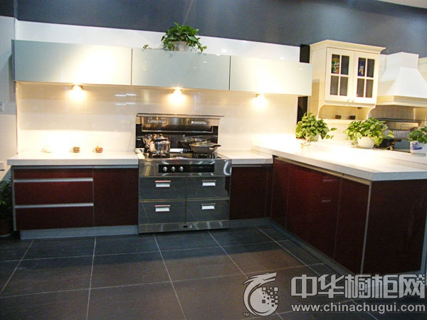 L型厨房装修效果图 厨房整体橱柜效果图