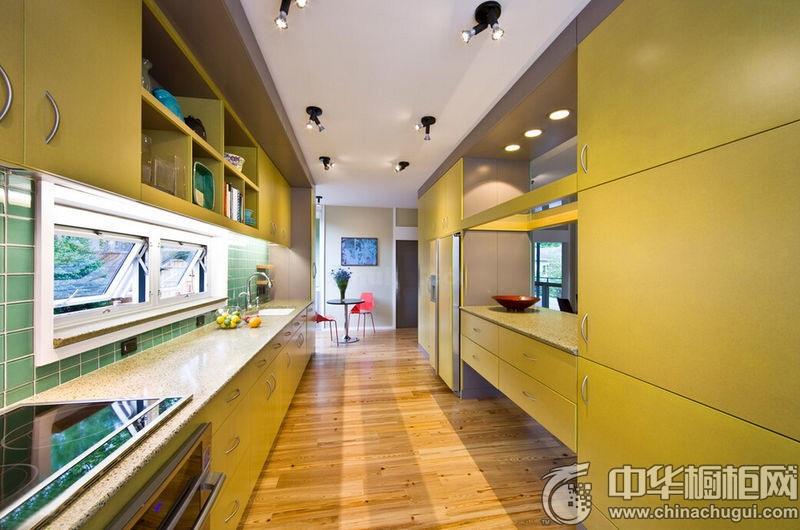 整体厨房图片 一字型橱柜效果图