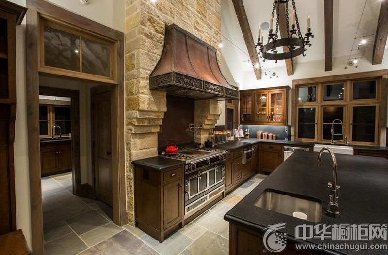 家庭厨房设计效果图 橱柜效果图