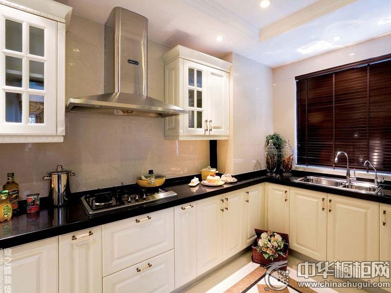 简欧厨房装修效果图 L型橱柜图片