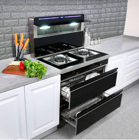 集成灶装修效果图 现代风格橱柜装修效果图-美式风格厨房装修效果图