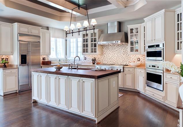 岛型橱柜图片  开放式厨房装修效果图