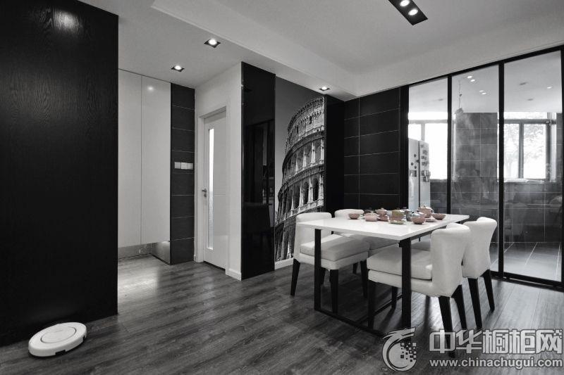 【中华橱柜网】现代化的生活步伐,是人身心具疲,渴望在家找到温馨、自由,不受束缚的感觉,现代简约是不错的选择:简约家居、低碳生活。主体色以白色、黑色为主,彰显浅暖色调搭配法原则,大气时尚表现的淋漓尽致。 客厅  现代简约风格客厅装修效果图  现代简约风格客厅装修效果图 现代简约风格黑白搭配,黑、白是色彩浓缩信息的两个重要元素,是视觉色彩的两大支柱,是自然界两个极端色彩的完美存在形式。 餐厅  现代简约风格餐厅装修效果图 全玻璃隔断分开厨房与餐厅,彰显着简约奢华。 厨房  现代简约风格厨房白色整体橱柜装修效果