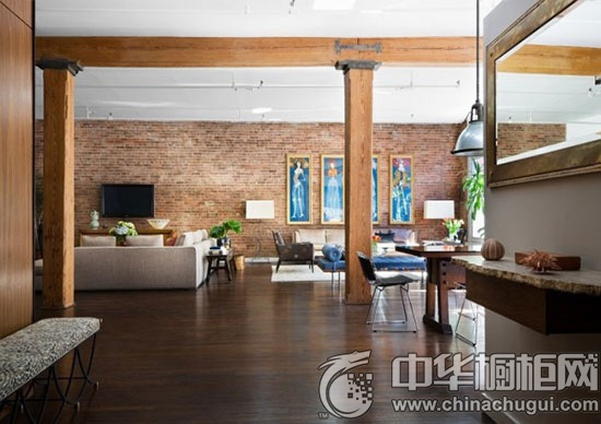 复古风格客厅装修效果图