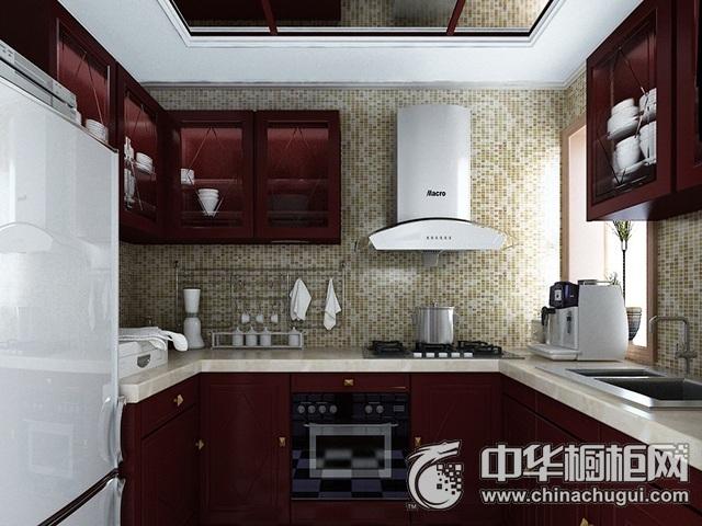 中式厨房装修效果图 U型厨房装修效果图