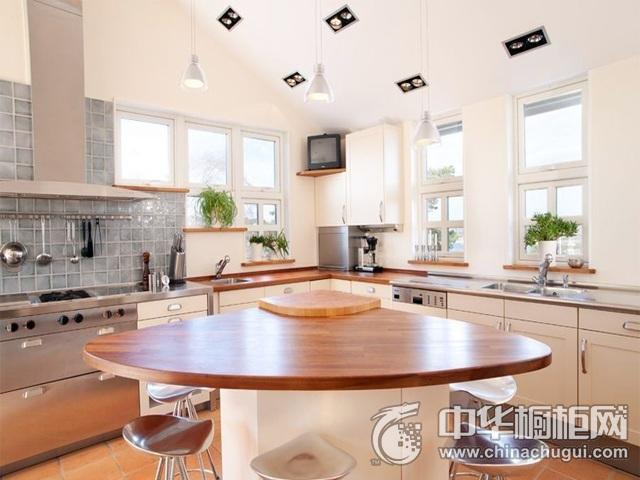 厨房吧台装修效果图 岛型整体橱柜图片