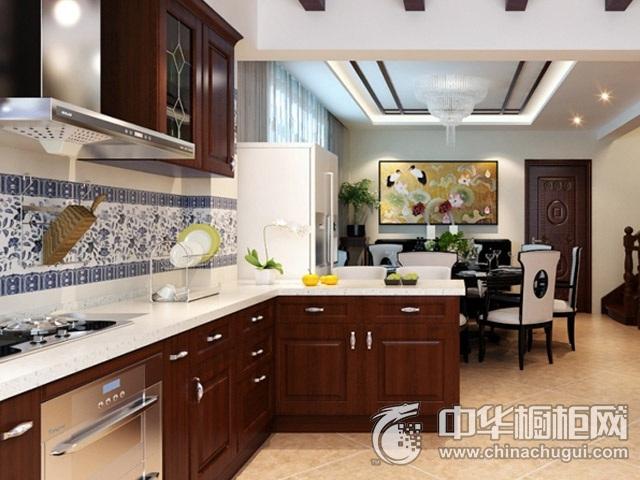 中式橱柜装修效果图 实木橱柜图片