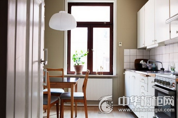 小厨房装修效果图 一字型橱柜图片