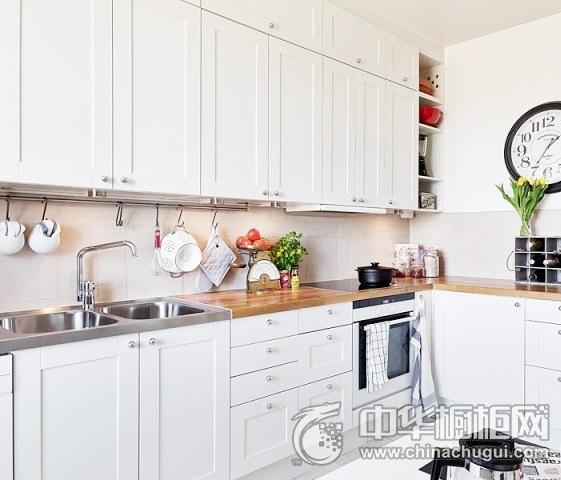 北欧风格厨房装修图片 L型橱柜效果图