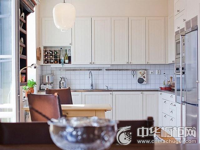 欧式橱柜图片 L型厨房装修效果图