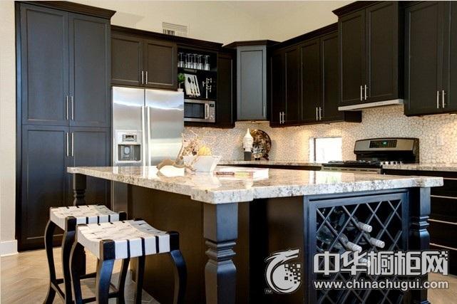 整体厨房设计图 岛型橱柜图片