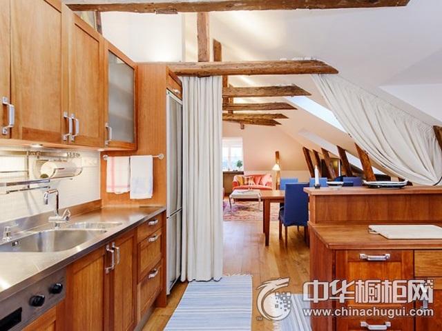 厨房装修效果图片 原木色橱柜效果图