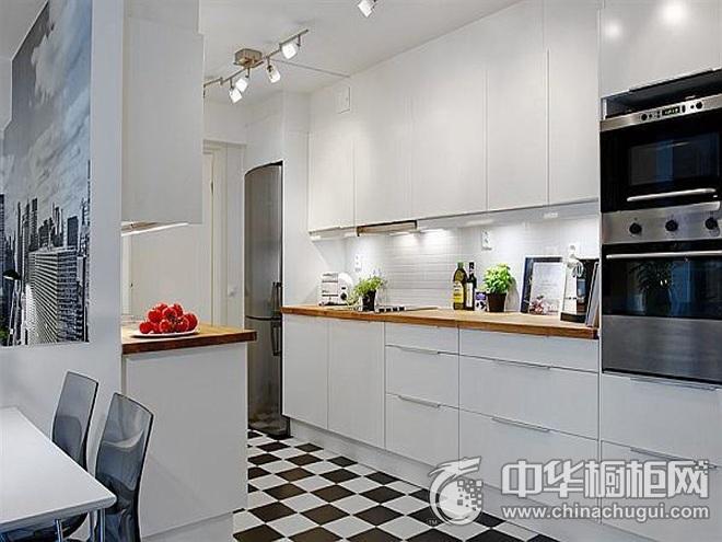 厨房装修效果图大全 一字型橱柜图片
