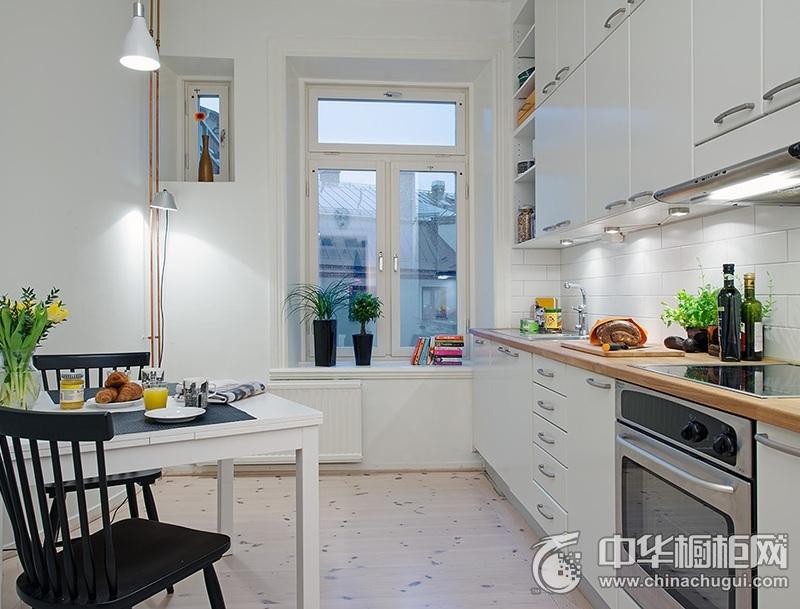整体厨房图片 白色橱柜效果图