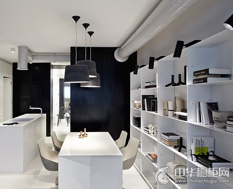 厨房设计图 白色橱柜效果图