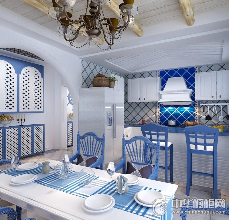 厨房装修图片 地中海橱柜图片