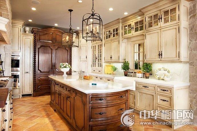 开放式厨房效果图 橱柜设计效果图