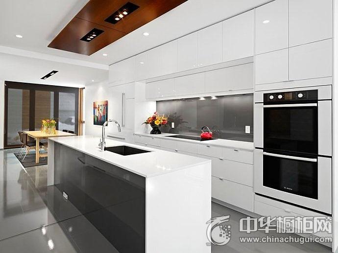 现代简约橱柜效果图 厨房装修效果图片