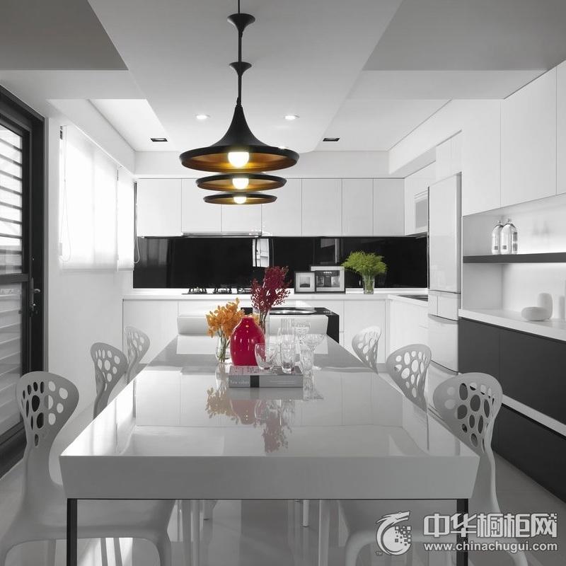 u型橱柜设计图 开放式厨房装修效果图