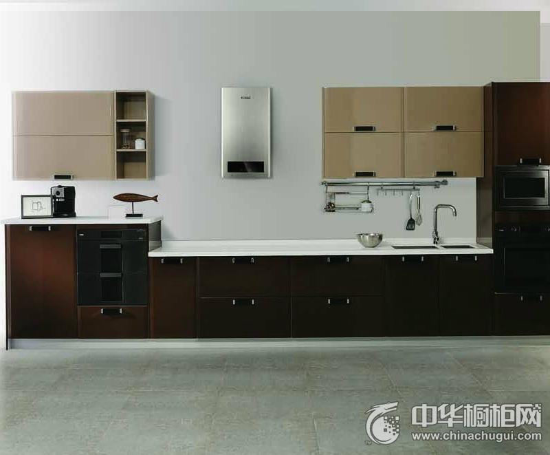 厨房装修效果图欣赏 一字型橱柜图片