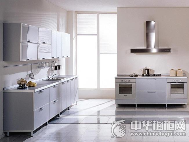 不锈钢橱柜设计效果图 开放式厨房装修效果图