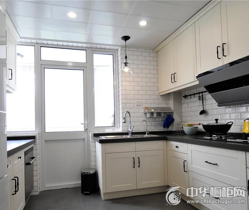 简欧厨房装修效果图 白色橱柜效果图