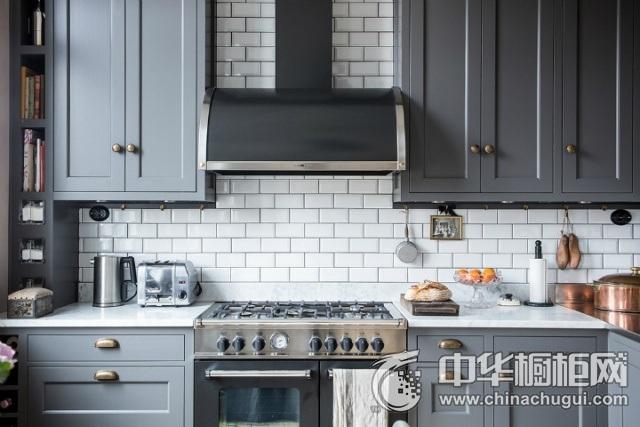 橱柜设计效果图 一字型厨房装修效果图