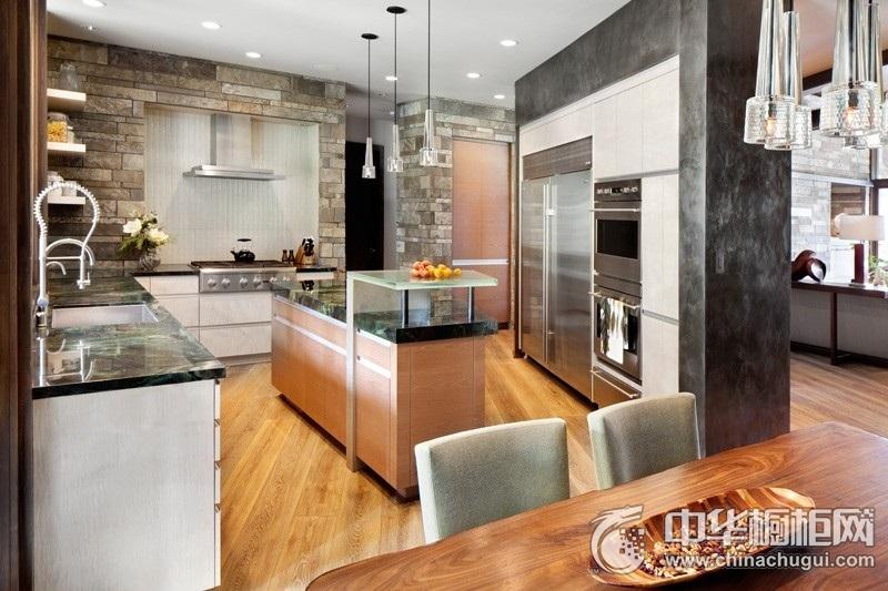 开放式厨房效果图 整体橱柜图片库