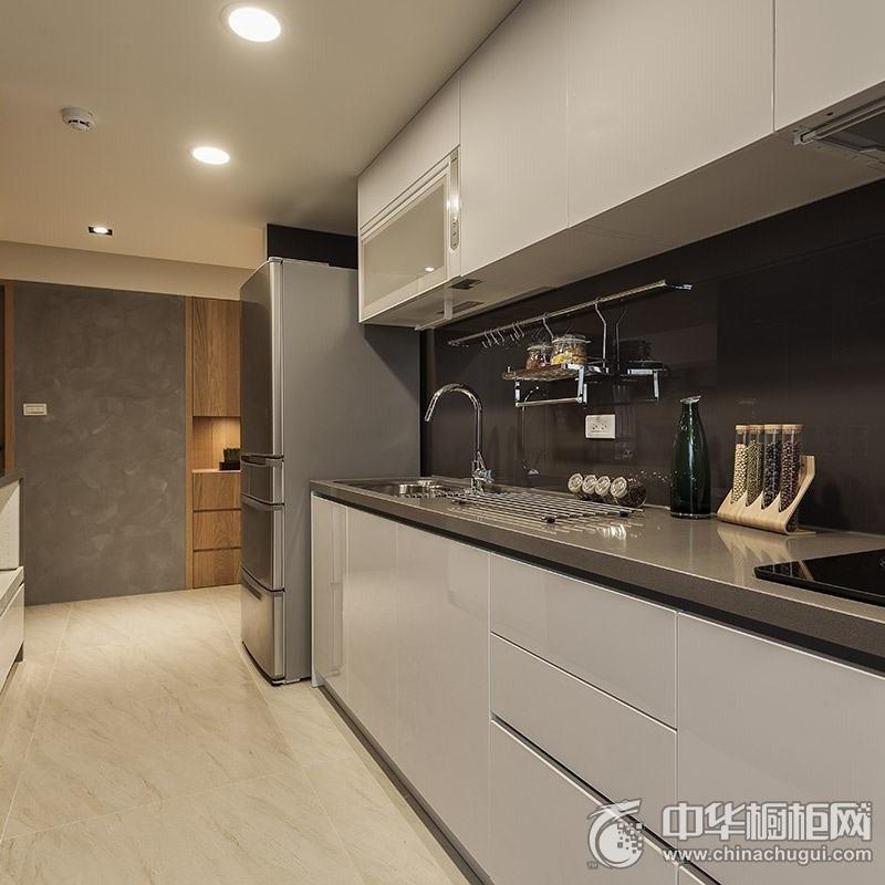 一字型厨房装修效果图 橱柜装修效果图
