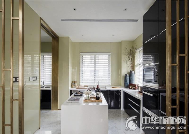 厨房装修效果图片 岛型橱柜效果图
