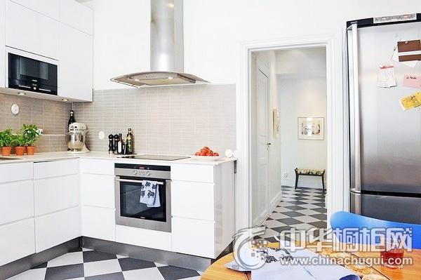 厨房橱柜图片 一字型厨房设计图