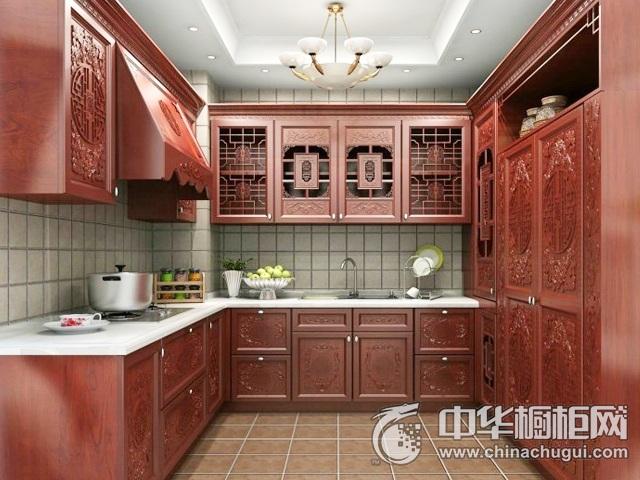 中式风格橱柜装修效果图 L型橱柜图片