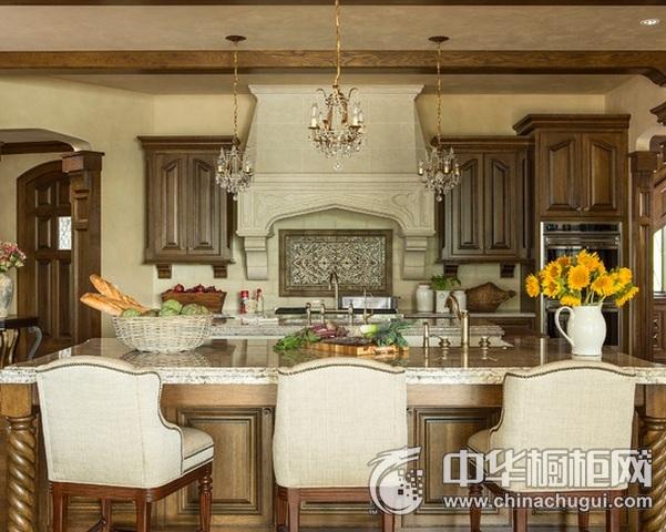 厨房装修效果图片 岛型橱柜图片