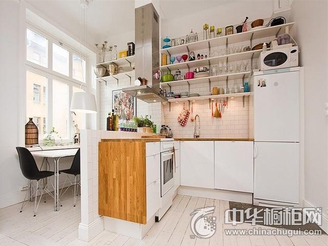 小户型厨房装修图片 L型橱柜图片