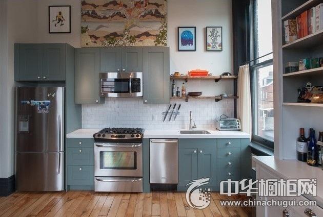 厨房装修效果图片 一字型橱柜图片