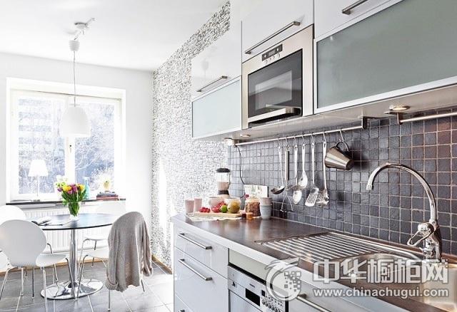 开放式厨房效果图 一字型厨房装修效果图