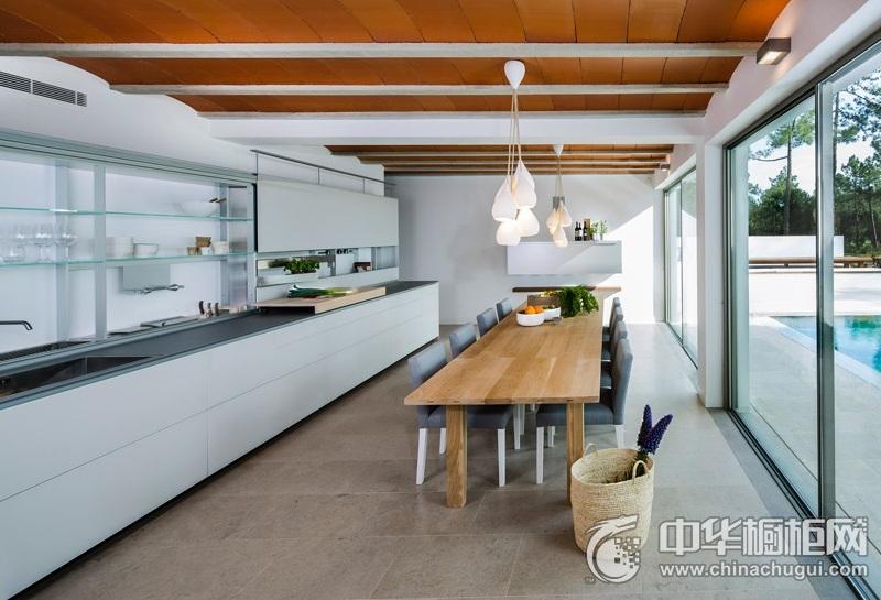 整体厨房设计图片 一字型橱柜效果图