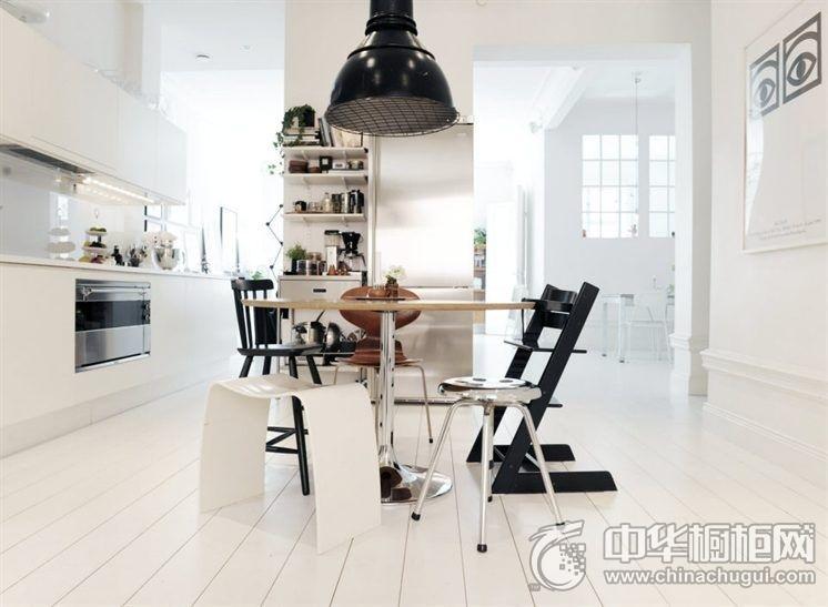 厨房餐厅装修效果图 一字型厨房装修效果图
