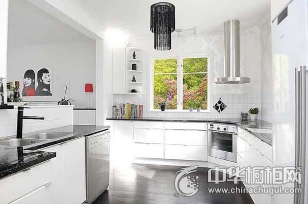 整体橱柜效果图 白色厨房设计图