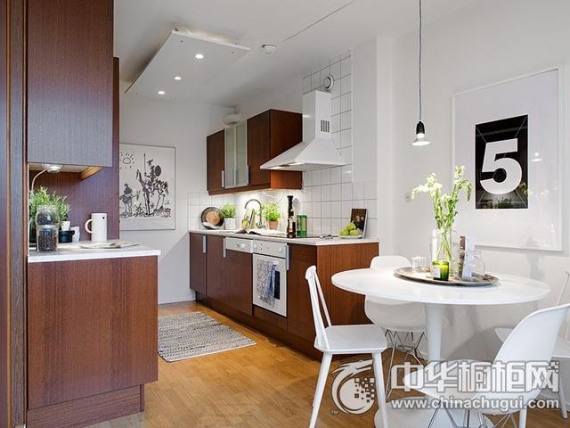 厨房设计效果图 一字型橱柜效果图