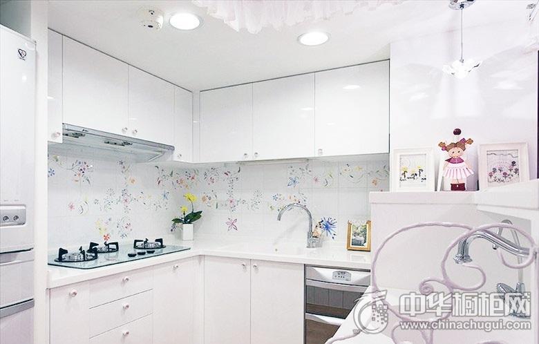 现代整体橱柜效果图 L型厨房装修效果图
