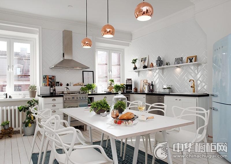 家庭厨房设计效果图 L型橱柜设计效果图